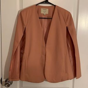 IRIS Los Angeles solid open front cape blazer